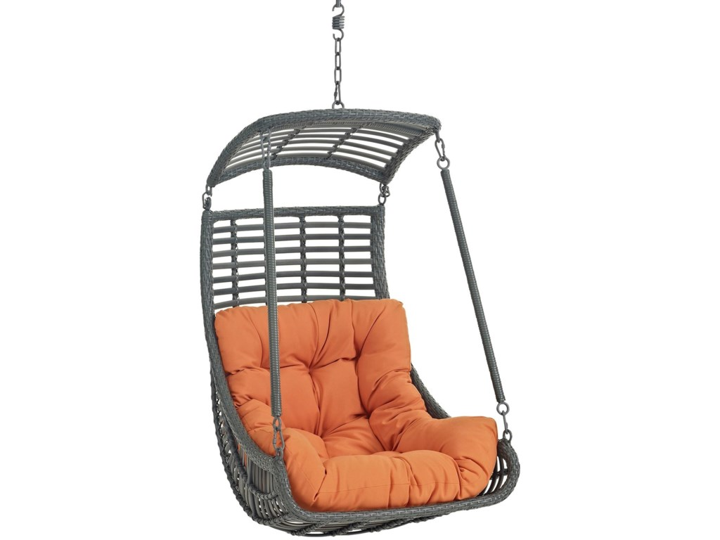 Modway JungleOutdoor Patio Swing Chair