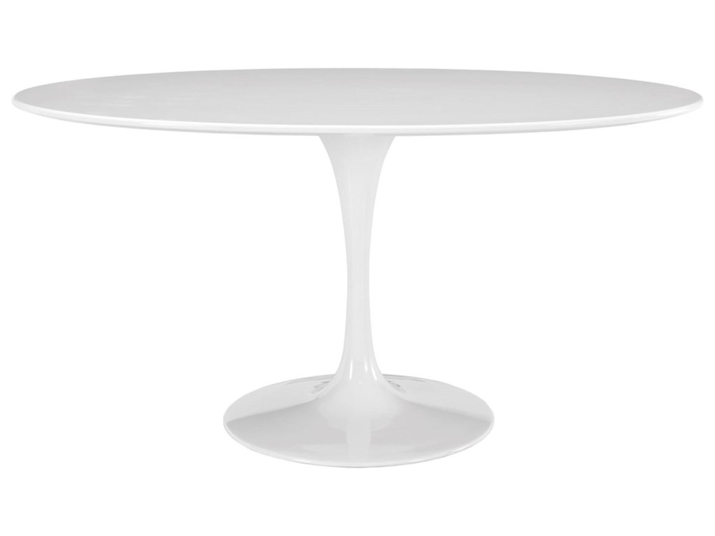 Modway Lippa WhiteOval Dining Table