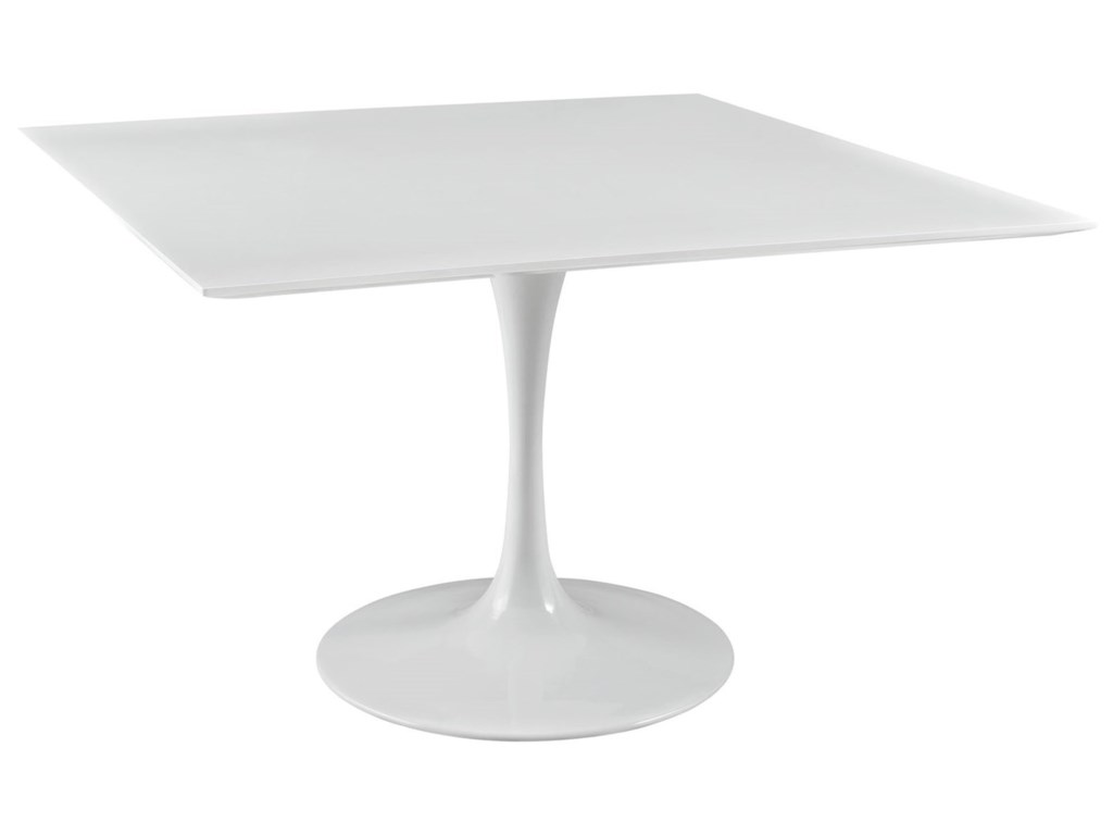 Modway Lippa WhiteSquare Dining Table