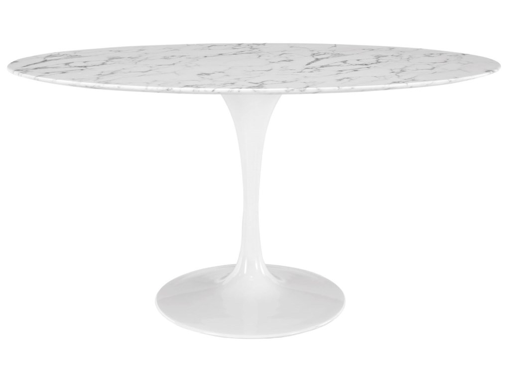 Modway Lippa MarbleOval Dining Table