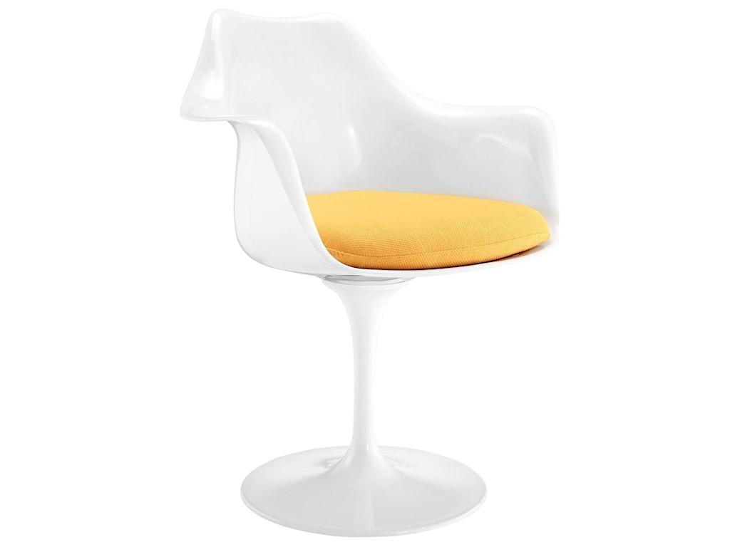Modway Lippa WhiteDining Arm Chair