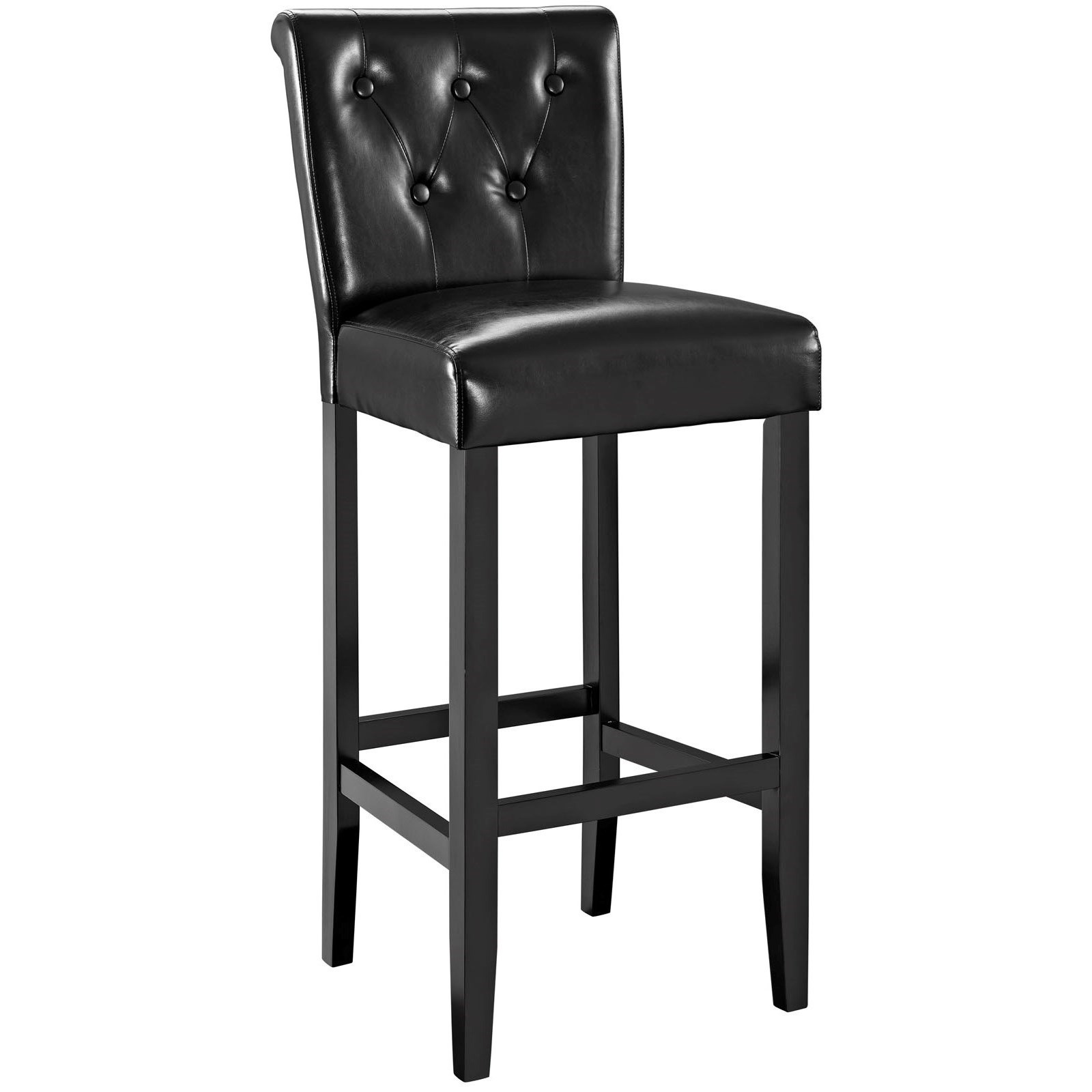 Tender Upholstered Bar Stool With Button Tufting By Modway