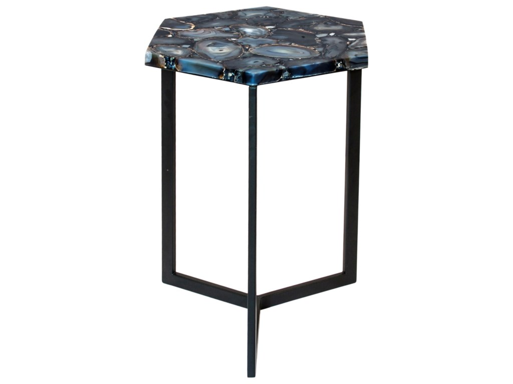 Moe's Home Collection Accent TablesHexagon Agate Accent Table
