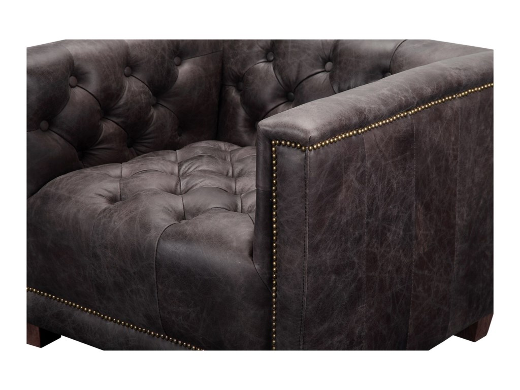 Moe's Home Collection AekermanTop Grain Leather Club Chair