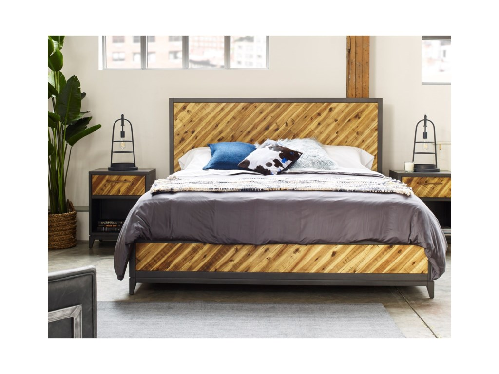 Moe's Home Collection AlmadaKing Acacia Platform Bed
