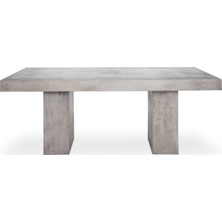 Natural Concrete Outdoor Dining Table