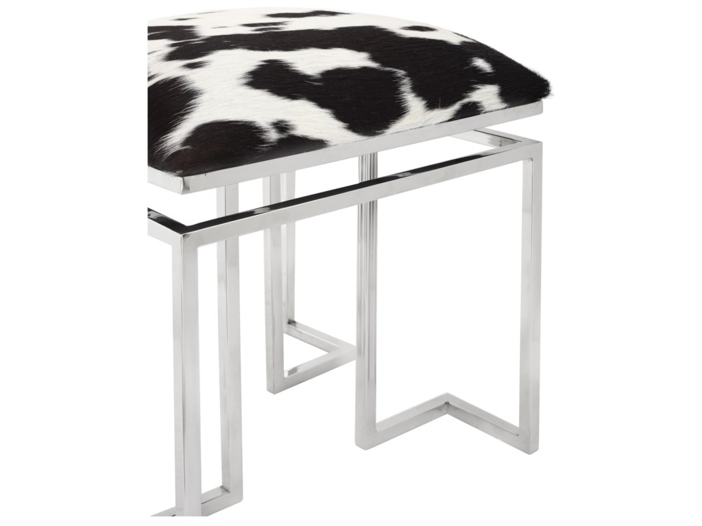 Moe's Home Collection AppaCowhide Square Stool