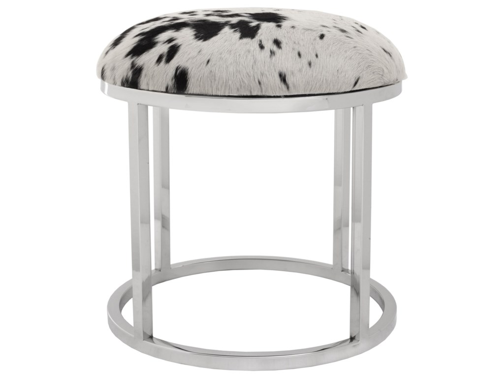 Moe's Home Collection AppaCowhide Round Stool