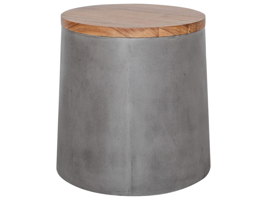 Moe's Home Collection AppertConcrete Outdoor Storage Stool