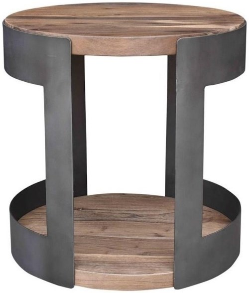 Moe's Home Collection April Industrial Round Side Table