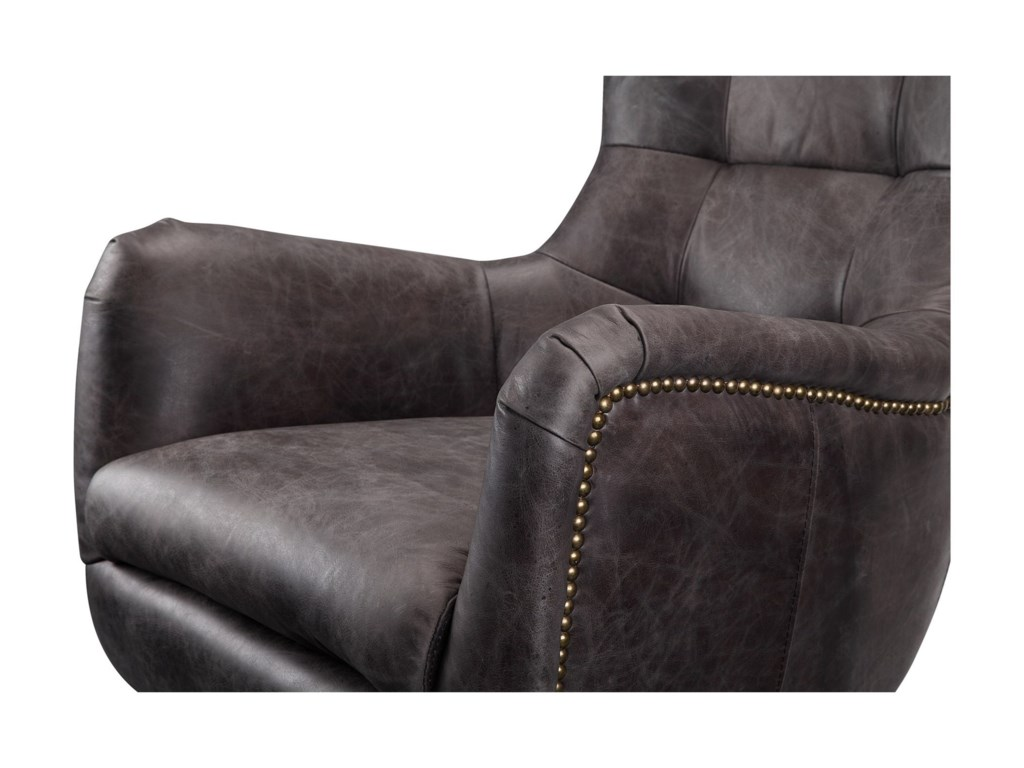 Moe's Home Collection ApsleyLeather Swivel Chair