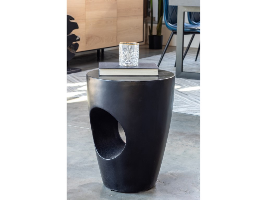 Moe's Home Collection AylardNatural Concrete Outdoor Stool