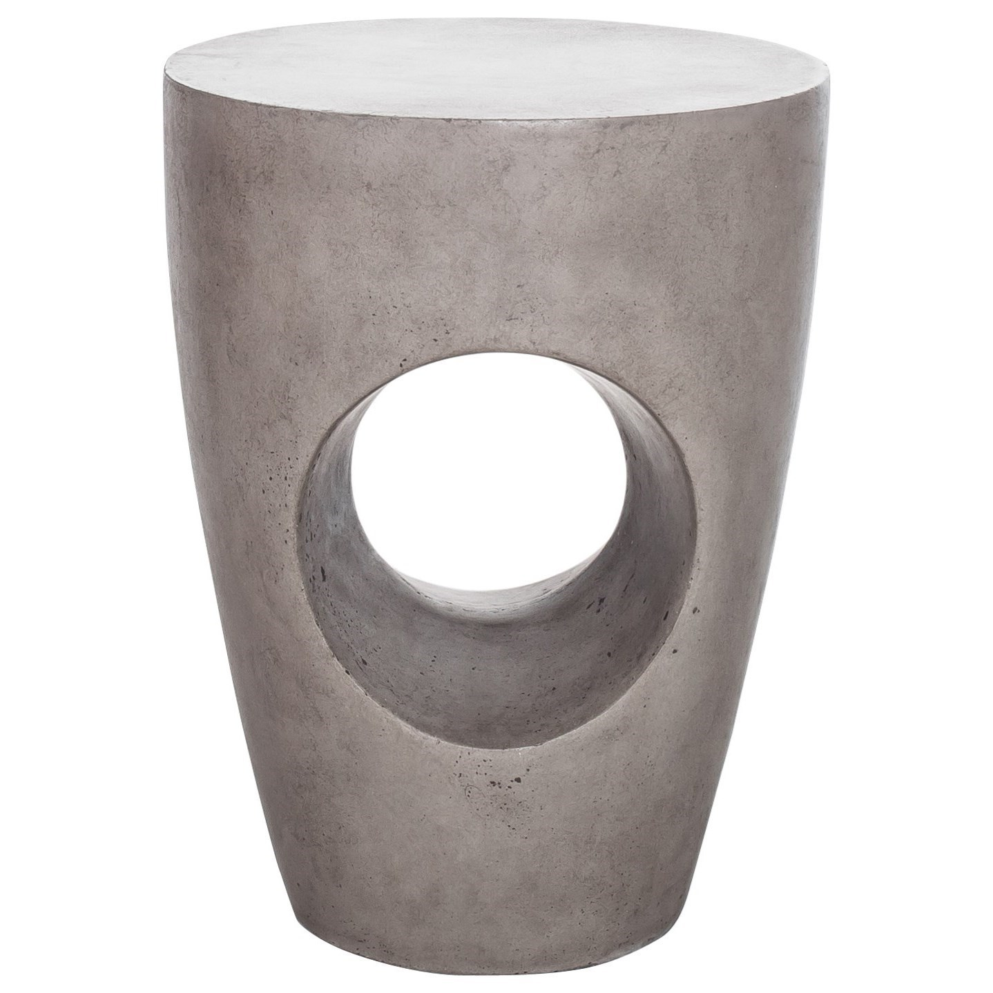 Natural Concrete Outdoor Stool