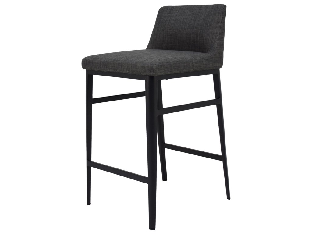 Moe's Home Collection BaronCharcoal Mid-Century Modern Counter Stool