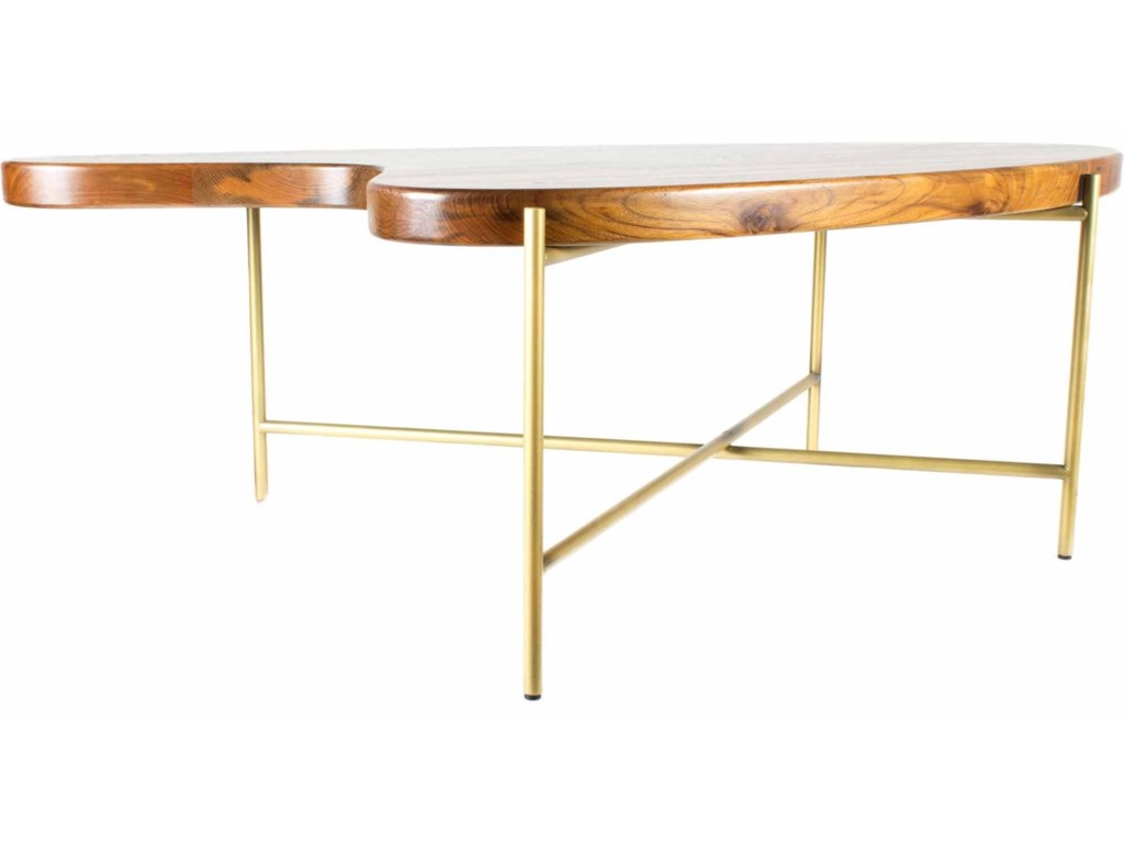 Moe's Home Collection BeanSolid Teak Coffee Table