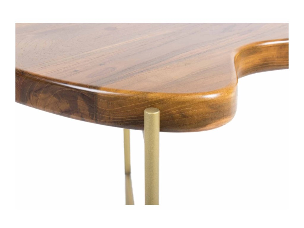 Moe's Home Collection BeanSolid Teak Side Table