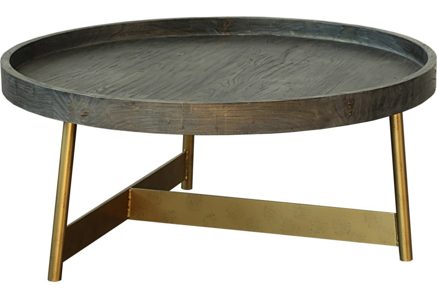Moe S Home Collection Bellucci Tray Edge Coffee Table With Metal