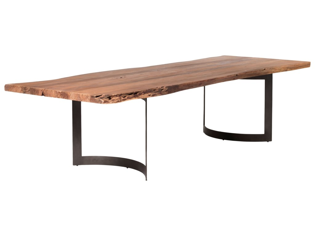 Moe's Home Collection Bent Dining Table Large Smoked