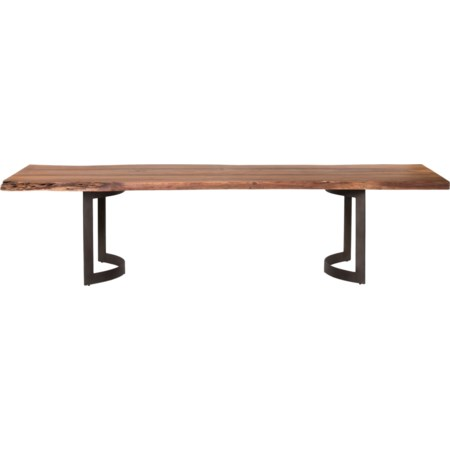 Dining Table Small Smoked