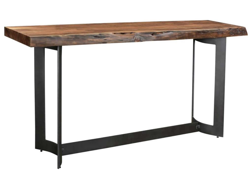 Moe's Home Collection BentConsole Table Smoked