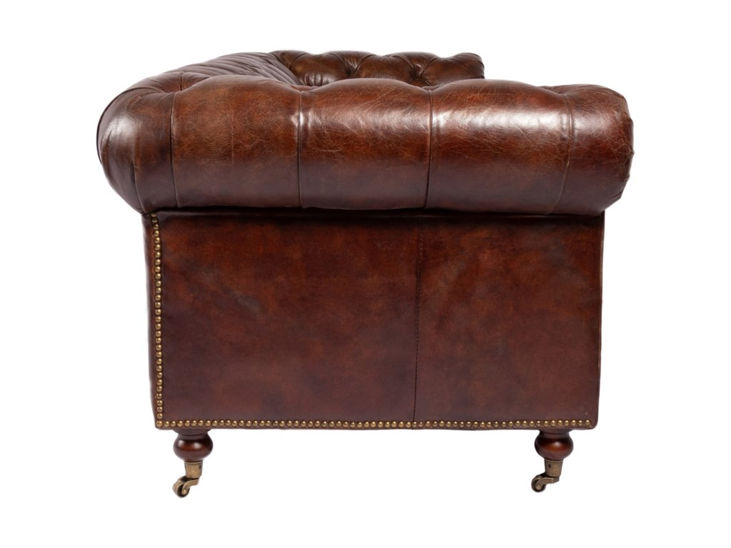 Moe's Home Collection BirminghamTufted Top Grain Leather Sofa