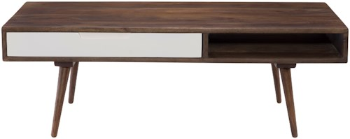 Moe's Home Collection Blossom Retro Modern Coffee Table with Drawer