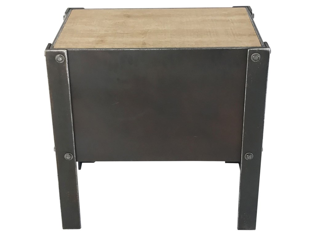 Moe's Home Collection BoltIndustrial Side Table with 2 Drawers