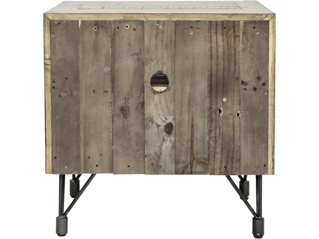 Moe's Home Collection BonetaRustic Industrial Nightstand