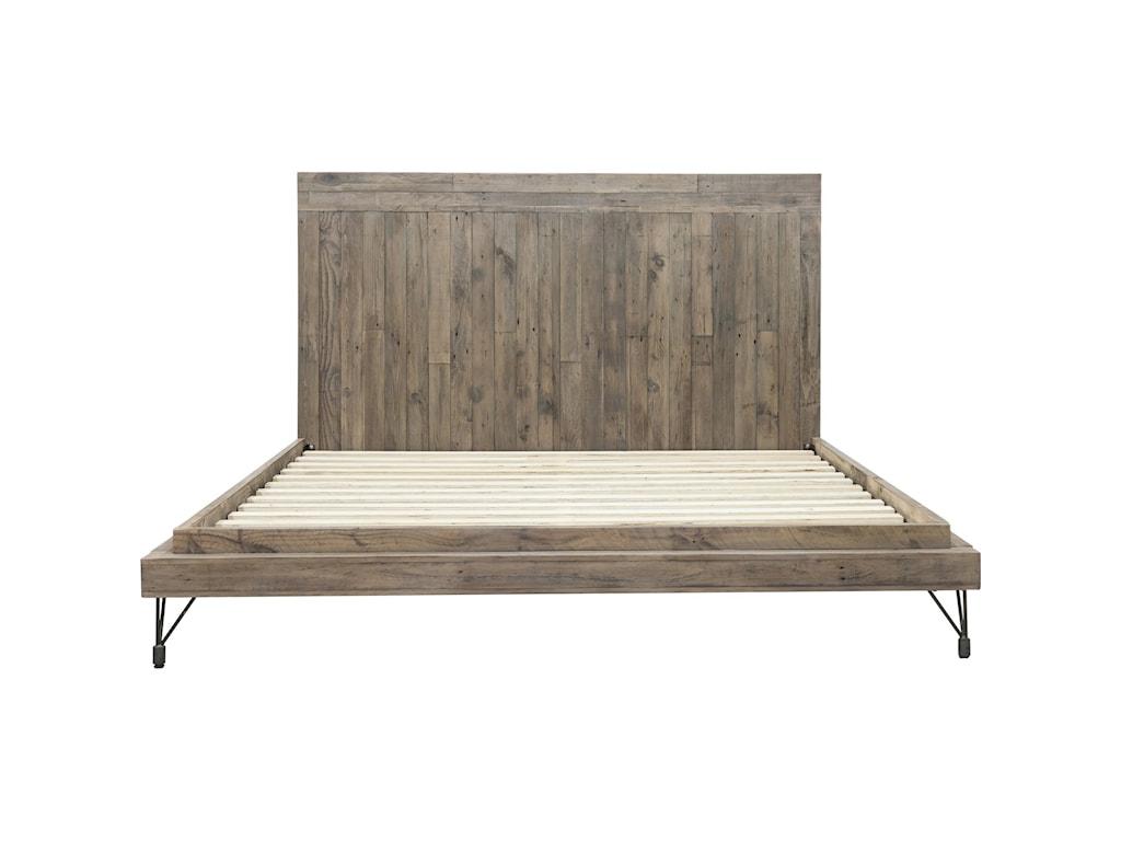 Moe's Home Collection BonetaKing Rustic Industrial Bed