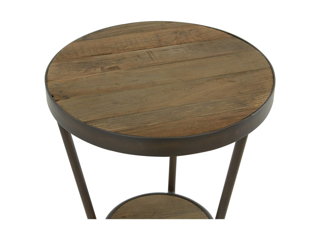 Moe's Home Collection BrinRound Reclaimed Elm Side Table