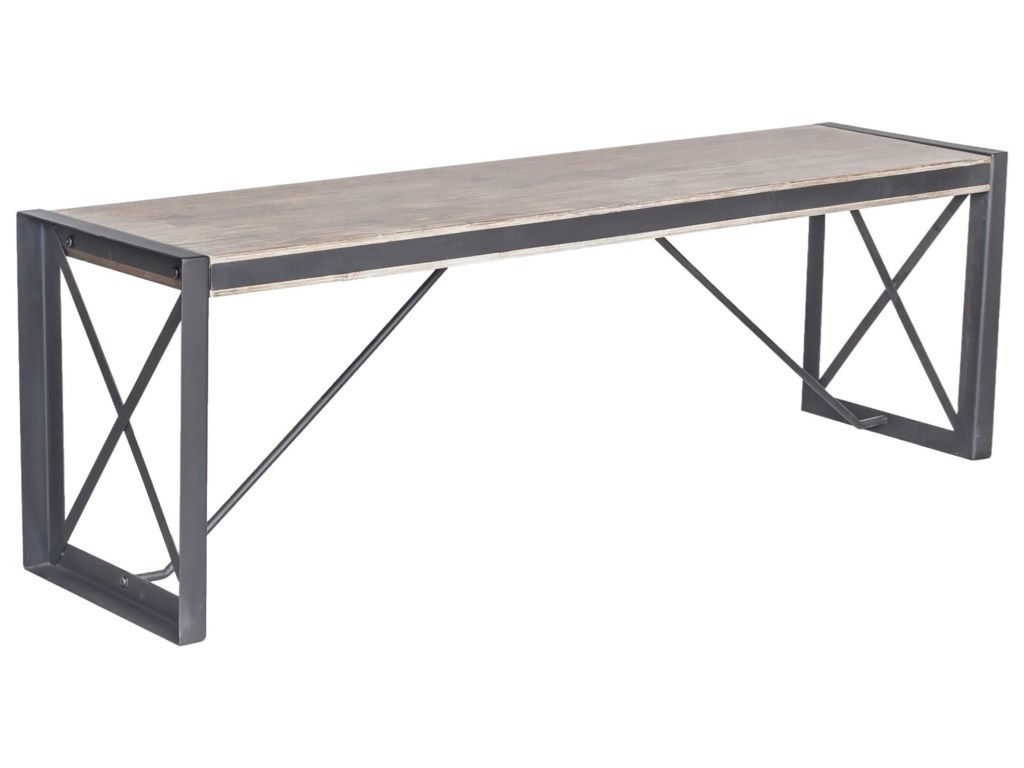 Moe's Home Collection BronxLarge Industrial Dining Bench