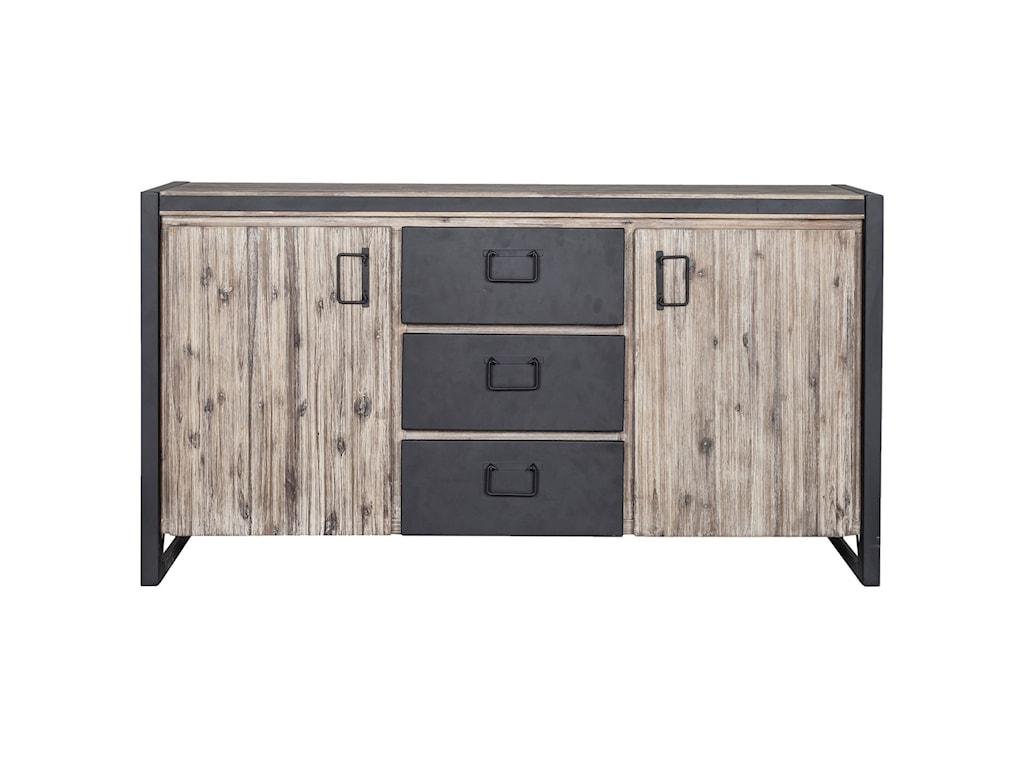 Moe's Home Collection BronxIndustrial Sideboard with Metal Drawers