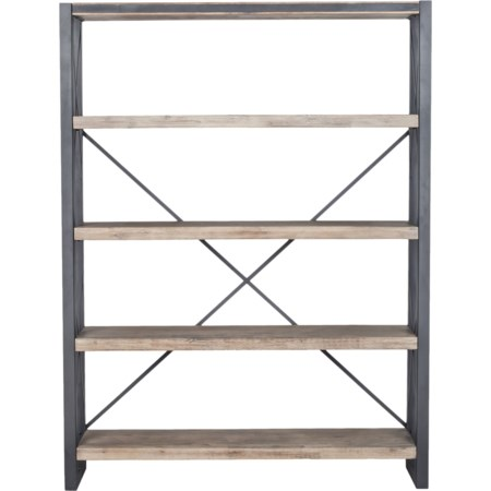 Industrial Open Bookcase