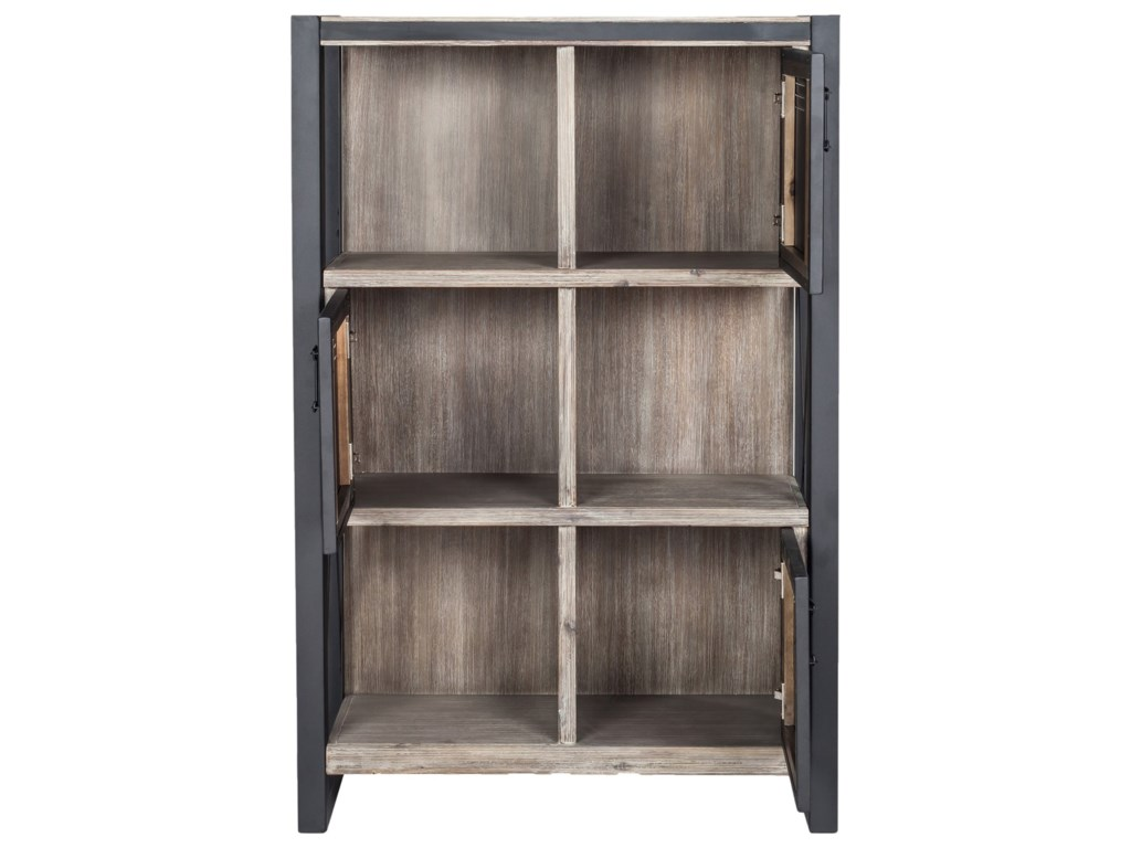 Bronx Industrial Bookshelf With Doors by Moe's Home Collection at Stoney  Creek Furniture