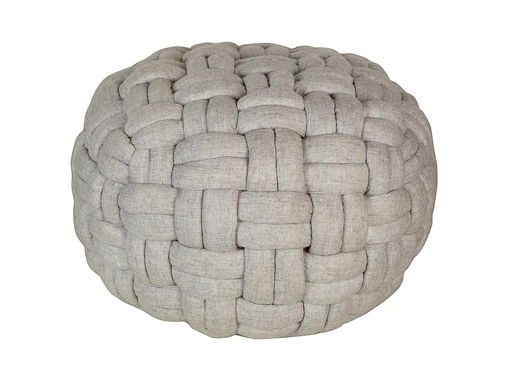 Moe's Home Collection BronyaPashmina Wool Pouf
