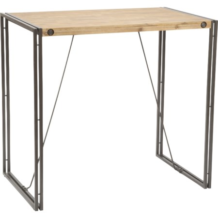 Pub Table with Metal Stretchers