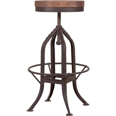 Rustic Industrial Adjustable Barstool