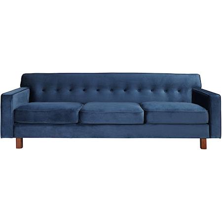 Velvet Mid-Century Modern Sofa