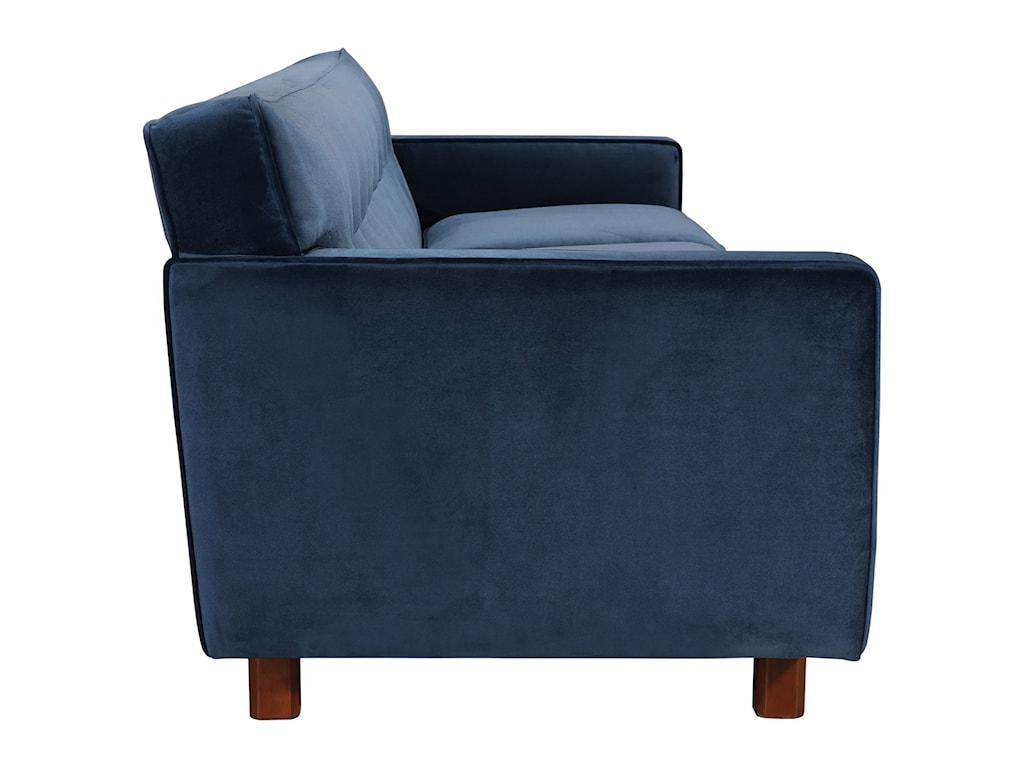 Moe's Home Collection BuckinghamVelvet Mid-Century Modern Sofa
