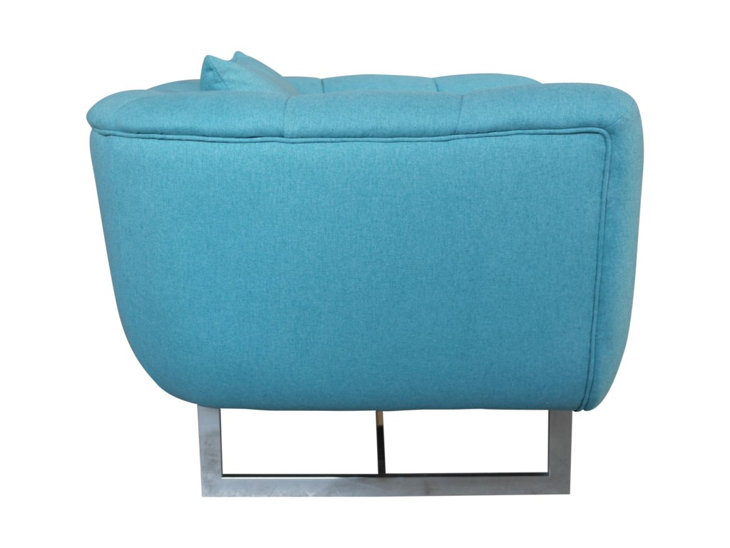 Moe's Home Collection ButlerChannel-Tufted Arm Chair