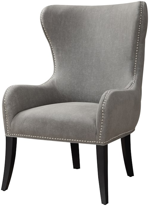 Moe's Home Collection Caden Club Chair with Subtle Wing Back
