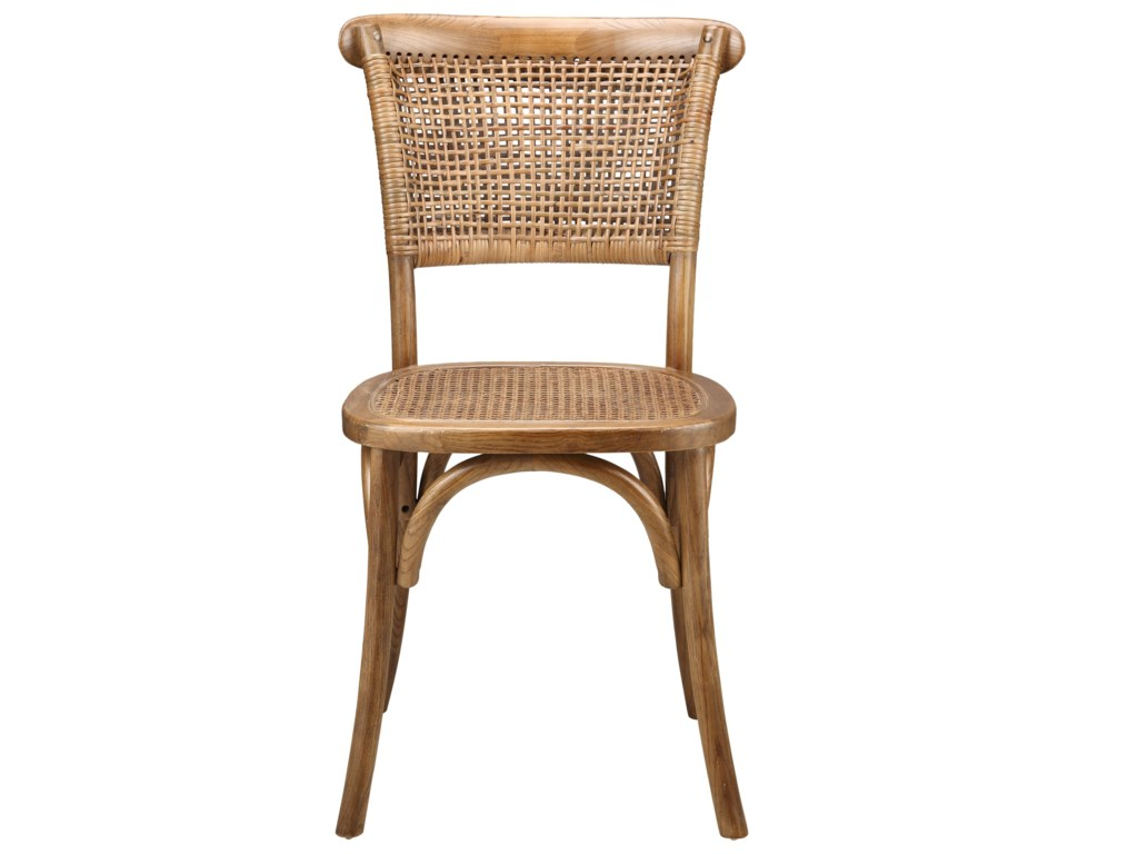 Moe's Home Collection ChurchillDining Chairs with Rattan Seat