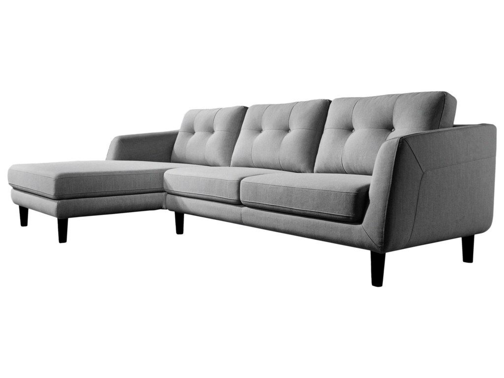Moe\'s Home Collection Corey Contemporary Sectional Sofa with Left ...