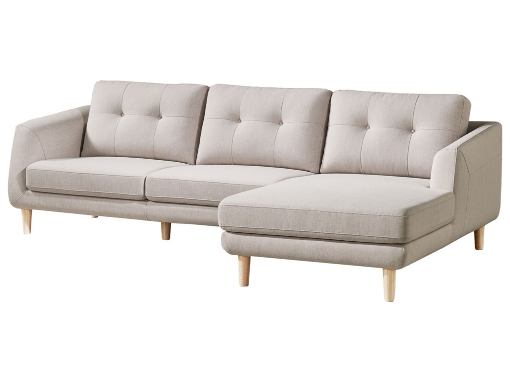 Corey Contemporary Sectional Sofa with Right Chaise by Moe\'s Home  Collection at Stoney Creek Furniture