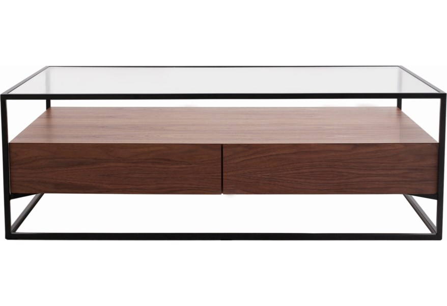 Moe S Home Collection Dallas Contemporary Coffee Table With