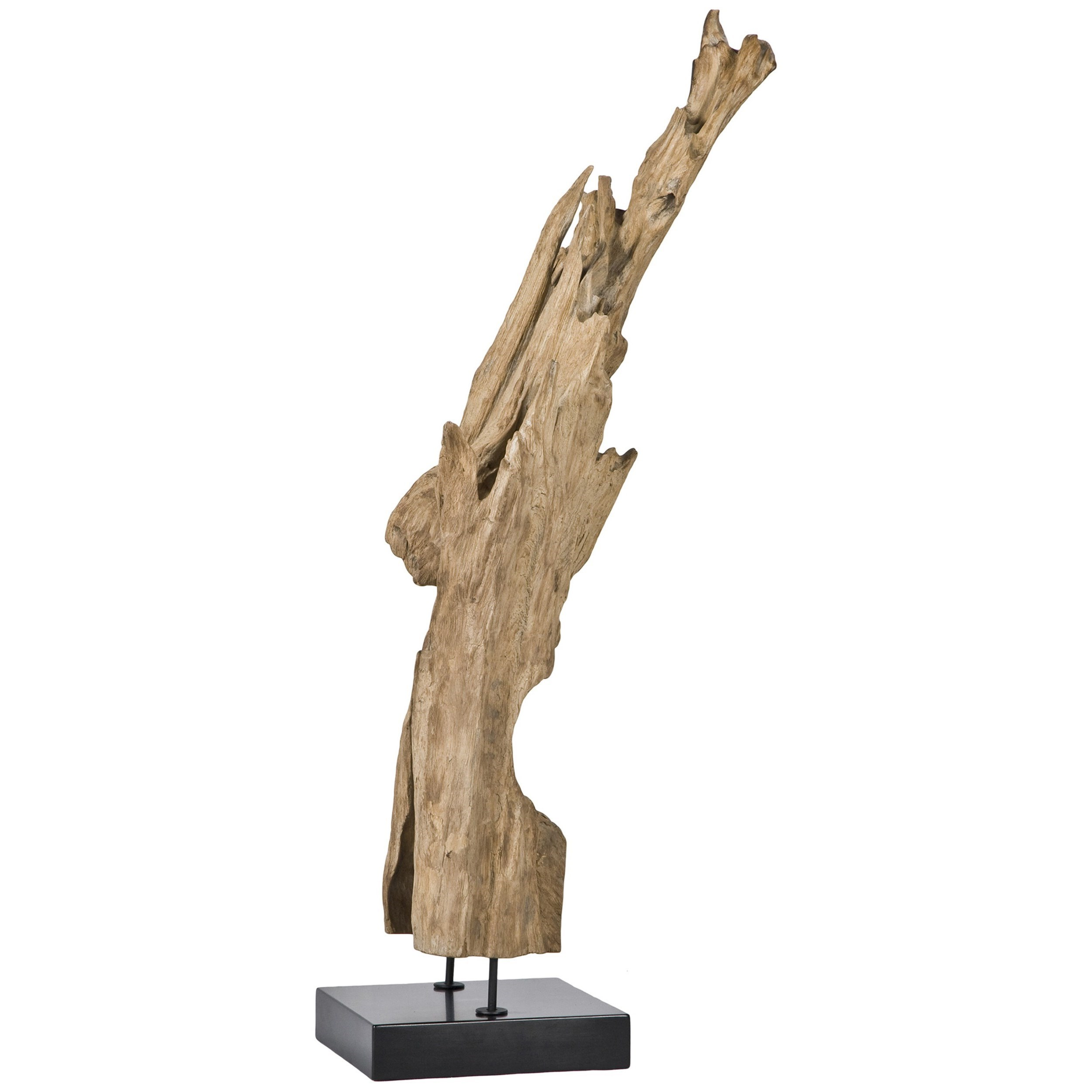 Decorative Accessories Natural Teak Wood Sculpture On Black Marble Stand By  Moeu0027s Home Collection