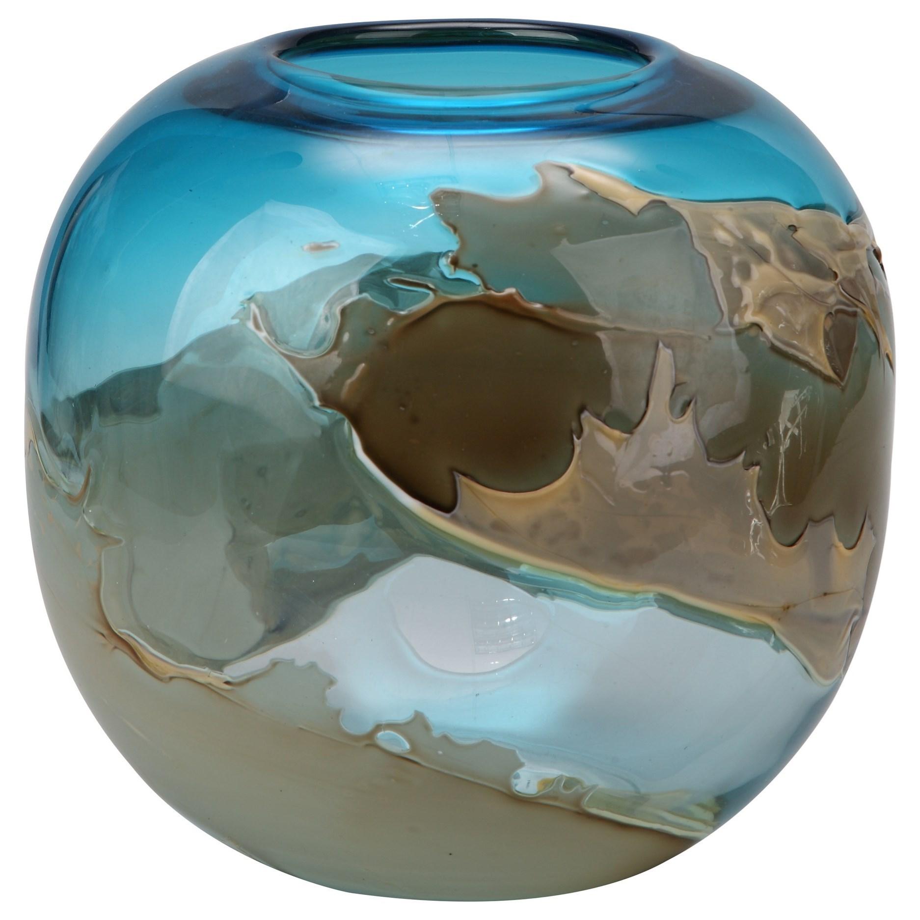 Mystic Blue Vase Globe