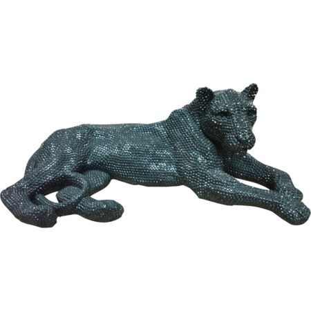 Panthera Statue Small Black