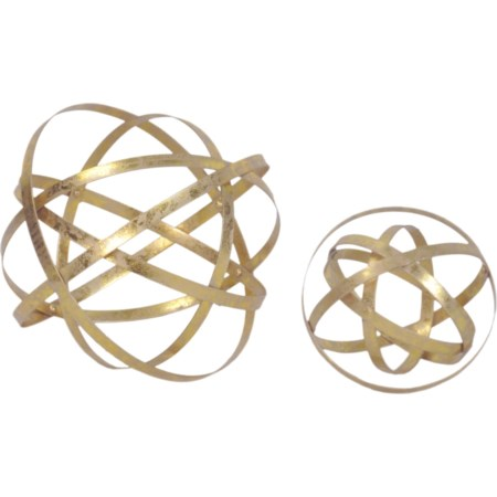 Gold Sphere Set Of 2