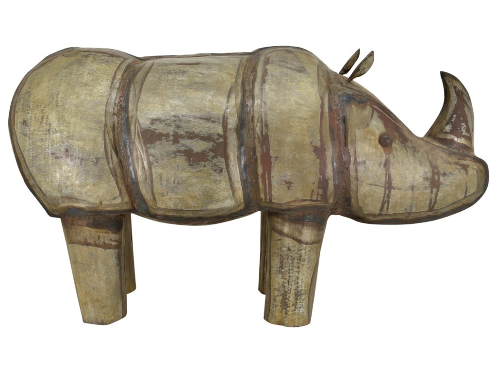Moe S Home Collection Decorative Accessories Iron Rhinoceros